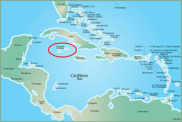 What Is Near The Cayman Islands
