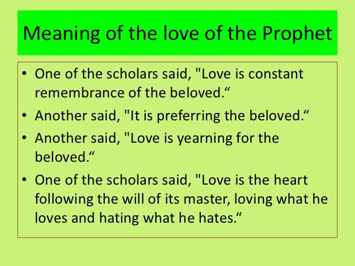The Prophet On Love
