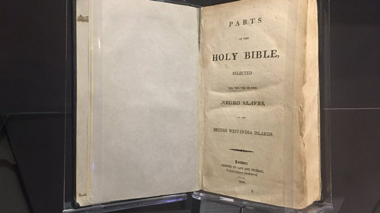"Parts of the Holy Bible, Selected for the Use of the Negro Slaves (AKA ""Slave Bible"") 1808."