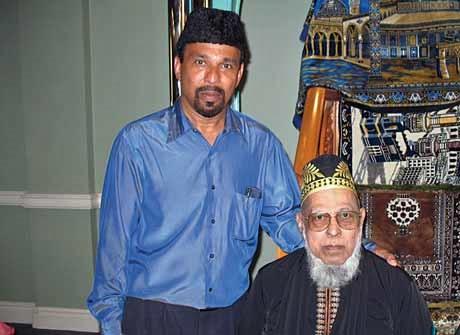 Haji Shamir with his son Osman